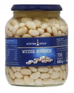 Küstengold Weisse Bohnen (425 g) - 4250426200423