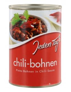 Jeden Tag Chili-Bohnen in Chili-Sauce