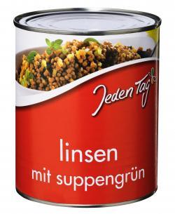 Jeden Tag Linsen mit Suppengrün