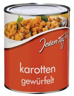 Jeden Tag Karotten gewürfelt