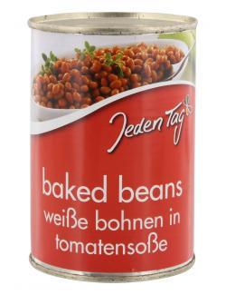 Jeden Tag Baked Beans Weiße Bohnen mit Tomatensoße (275 g) - 4250548900515