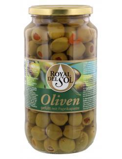 Royal del Sol Grüne Oliven gefüllt mit Paprikapaste (550 g) - 4002239447201