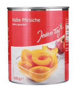 Jeden Tag Halbe Pfirsiche gezuckert