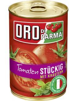 Oro di Parma Tomaten mit Kräutern stückig (400 g) - 4008100168473