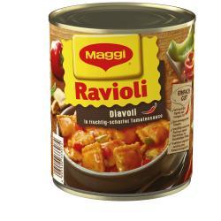 Maggi Ravioli Diavoli in scharfer Tomatensauce