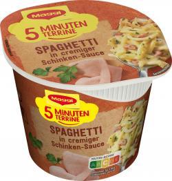 Maggi 5 Minuten Terrine Spaghetti in cremiger Schinkensauce (64 g) - 4005500339458