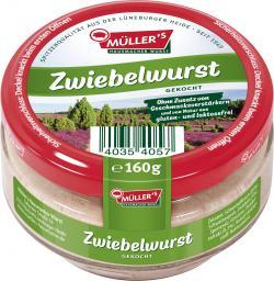 Müller's Hausmacher Wurst Zwiebelwurst gekocht