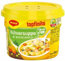 Maggi Topfinito Hühnersuppe mit Muschelnudeln, Becher (380 g) - 40055282