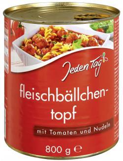 Jeden Tag Fleischbällchentopf mit Tomaten und Nudeln