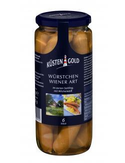 Küstengold Würstchen Wiener Art (6 x 41,60 g) - 4250426209112