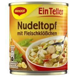 Maggi Ein Teller Nudeltopf mit Fleischklößchen (325 g) - 4005500329978