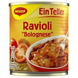 Maggi Ein Teller Ravioli Bolognese, Dose (340 g) - 4005500326502