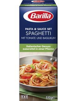Barilla Pasta & Sauce Set Spaghetti Tomate und Basilikum (510 g) - 8076809570176