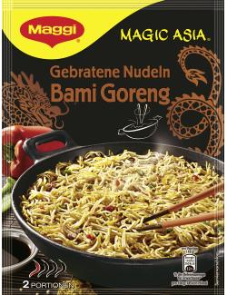 Maggi Magic Asia Gebratene Nudeln Bami Goreng, Beutel, für 2 Port. (120 g) - 7613035459021