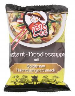 BigLee Instant-Noodlessuppe mit Goldenem Hähnchengeschmack (70 g) - 5900652423132
