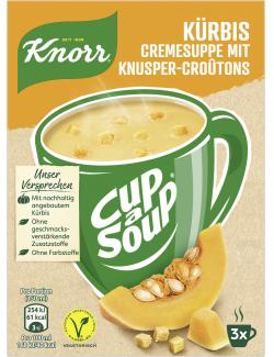 Knorr Cup a Soup Kürbis Cremesuppe mit Knusper-Croûtons