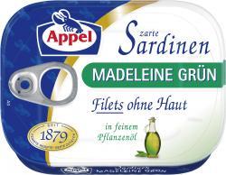 Appel Sardinenfilets Madeleine grün (80 g) - 4020500977011