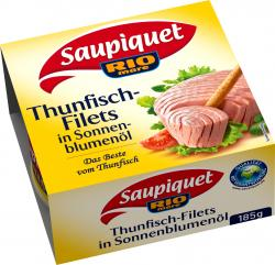Saupiquet Thunfischfilets in Sonnenblumenöl