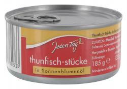 Jeden Tag Thunfisch-Stücke in Sonnenblumenöl