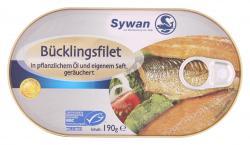 Sywan Bücklingsfilet in Pflanzenöl und eigenem Saft - geräuchert (190 g) - 4013712272500
