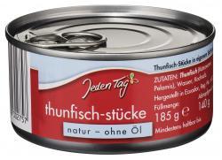 Jeden Tag Thunfisch-Stücke in eigenem Saft und Aufguss
