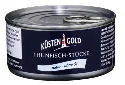 Küstengold Thunfisch-Stücke natur (140 g) - 4250426213195