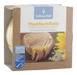 Followfish Thunfischfilets in Bio-Sonneblumenöl (130 g) - 4250073451223