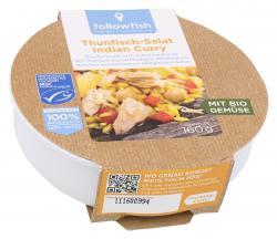 Followfish Thunfisch-Salat Indian Curry (160 g) - 4250073453203