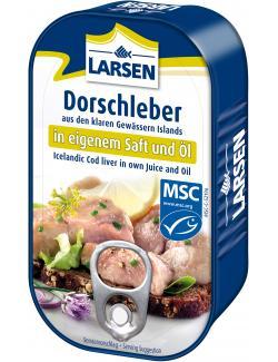 Larsen Dorschleber in eigenem Saft und Öl