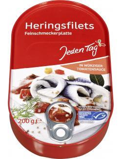 Jeden Tag Herings-Filets in würziger Tomatensauce