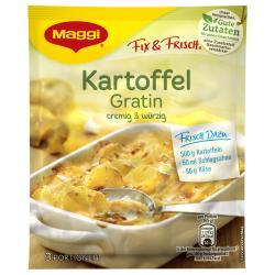 Maggi fix & frisch, Kartoffel Gratin, Beutel, ergibt 3 Port. (42 g) - 7613030691945