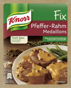 Knorr Fix Pfeffer-Rahm Medaillons