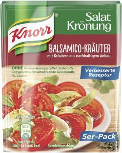 Knorr Salatkrönung Balsamico-Kräuter (5 x 90 ml) - 4038700114938