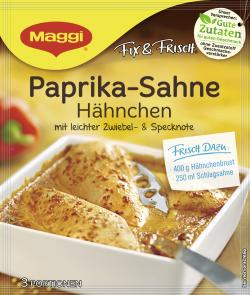 Maggi fix & frisch, Paprika-Sahne Hähnchen, Beutel, ergibt  3 Port. (33 g) - 7613030710554