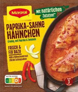 Maggi Fix für Paprika-Sahne Hähnchen