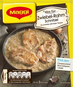 Maggi Idee für Zwiebel-Rahm Schnitzel