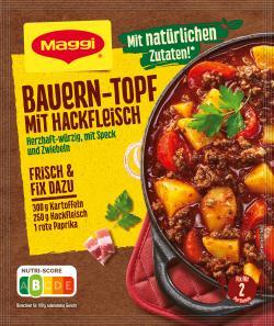 Maggi Idee für Bauern-Topf mit Hackfleisch