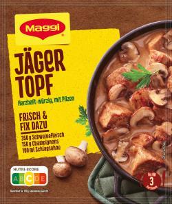 Maggi fix & frisch, Jäger-Topf, Beutel, ergibt 3 Port. (30 g) - 7613030712602