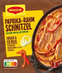 Maggi Idee für Paprika-Rahm Schnitzel