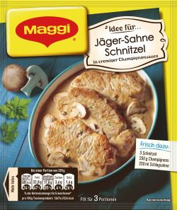 Maggi Idee für Jäger-Sahne Schnitzel