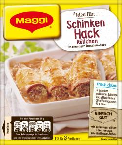 Maggi fix & frisch, Schinken-Hack Röllchen, Beutel, ergibt 3 Port. (31 g) - 7613030717836