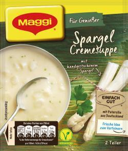 Maggi Guten Appetit, Spargel Cremesuppe, Beutel, ergibt 3 Teller - 4005500050315