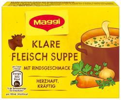 Maggi Klare Fleisch Suppe mit Rindsgeschmack
