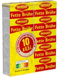 Maggi Fette Brühe, Stange, ergibt 5 Liter (10 x 0,50 l) - 4005500306504