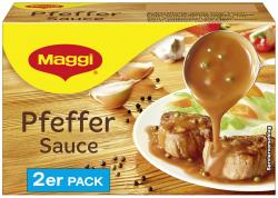 Maggi Pfeffer Sauce, 2er Pack, ergibt 2 x 250 ml (2 x 0,25 l) - 4005500318958