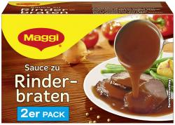 Maggi Sauce zu Rinderbraten, 2er Pack, ergibt 2 x 250 ml (2 x 0,25 l) - 4005500335252