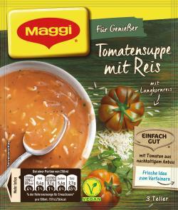 Maggi Für Genießer Tomatensuppe mit Reis - 4005500325178