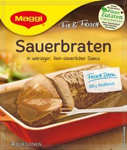 Maggi fix & frisch, Sauerbraten, Beutel, ergibt 4 Port. (46 g) - 7613030691785