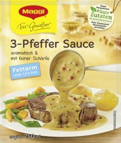 Maggi Für Genießer 3-Pfeffer Sauce fettarm (33 g) - 7613031293469