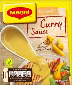 Maggi Für Genießer Curry Sauce, Beutel, ergibt 250 ml (34 g) - 7613031540563